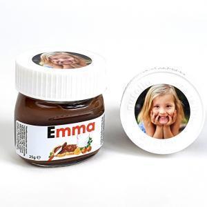 Nutella met naam en foto - origineel communiebedankje en lentefeest bedankje