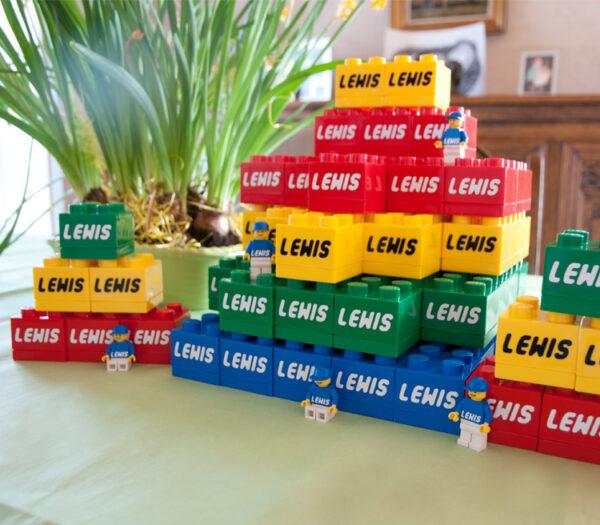 LEGO doopsuiker met naam - lego doosjes met naam - originele doopsuiker zelf maken