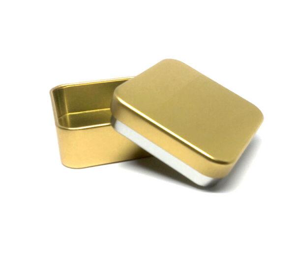 Originele doopsuiker online - Snoepdoosje met naam doopsuiker - Thema goud doopsuiker - Vierkant doosje goud met naam