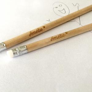 Potlood met naam - Originele doopsuiker - Originele geboortebedankjes - potloden graveren