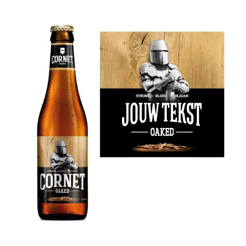 Cornet biersticker - bier personaliseren met naam - Cornet met naam bedrukken