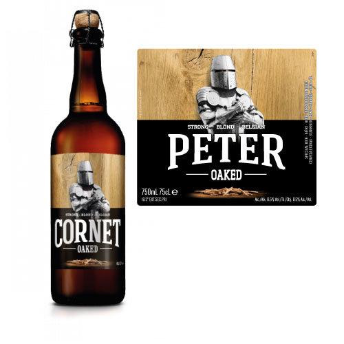Gepersonaliseerd bier - Cornet biersticker met naam - bier personaliseren met naam - Grote cornetfles 75cl met naam 2020