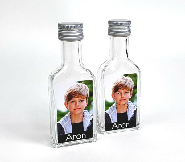 Drankflesje als origineel communiebedankje - drankflesje met foto communie en lentefeest
