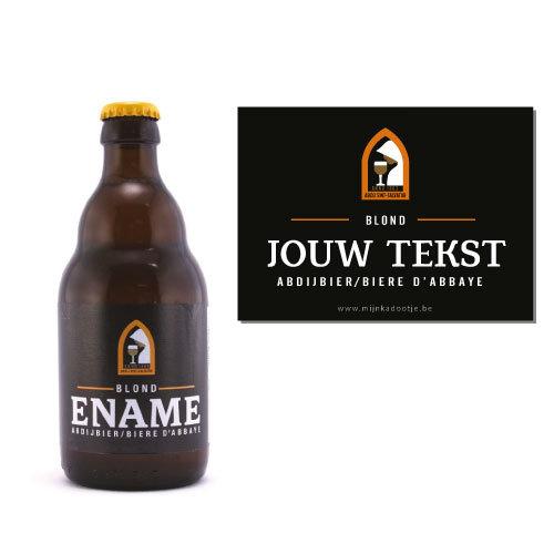Gepersonaliseerd bier met Ename biersticker - bier personaliseren met naam