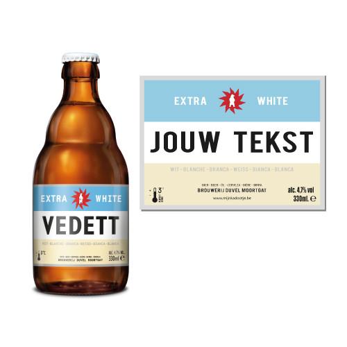 Gepersonaliseerd bier met naam - Vedett met naam - bier personaliseren met naam - Biersticker met naam vedett extra white