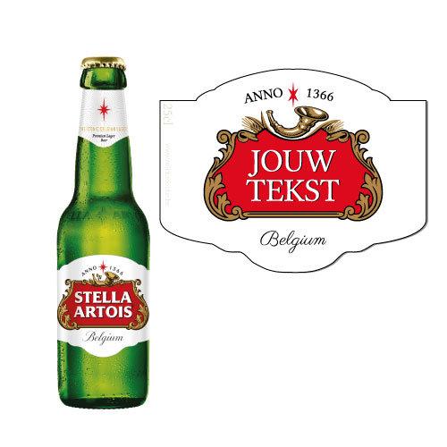 Gepersonaliseerd bier voor Stella -biersticker personaliseren met naam