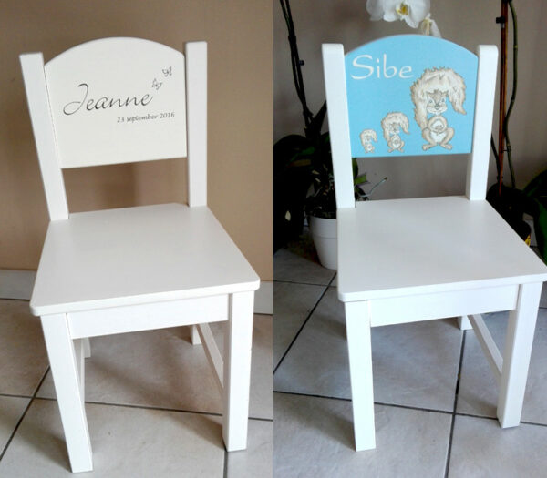 Kraamcadeau met naam - Kinderstoel met naam - Geboortestoel met naam - Origineel kraamcadeau
