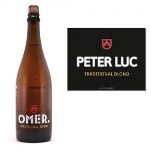 Gepersonaliseerd bier Omer 75cl sticker - bier personaliseren met naam - peter vragen