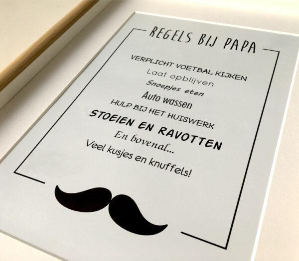 Decoratiewinkel - Wanddecoratie - cadeau voor vaderdag - verjaardagscadeau - regels bij papa_tekst