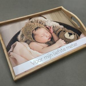 Dienblad met foto - Cadeau voor meter - cadeau voor peter