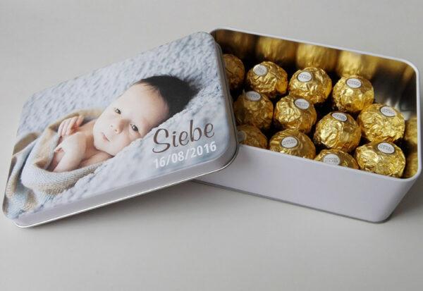Ferrero Rocher bedrukt blik met foto_02