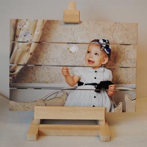 Foto op hout drukken - foto op steigerhout drukken ophanging