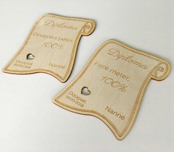 Meter en peter vragen - Houten bordje met naam - Origineel cadeau meter - Origineel cadeau peter