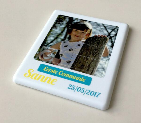 Schuifpuzzel met foto als origineel bedankje voor communie of bedankje voor lentefeest