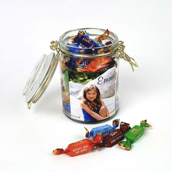 Snoeppot met foto als origineel fotocadeau bij snoeponline