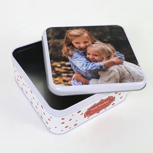Blikken doos met foto - koekjesdoos met foto