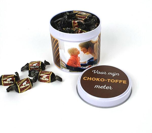 Snoepcadeau - Chokotoff cadeau - Origineel chocolade cadeau met foto