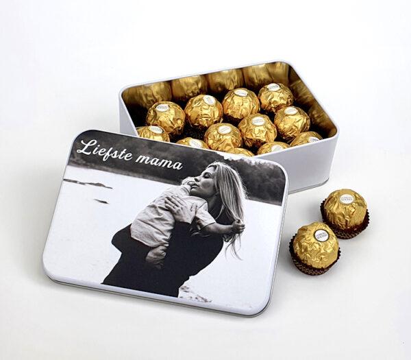 Ferrero geschenkdoos met foto - Origineel cadeau moederdag - Snoepcadeau