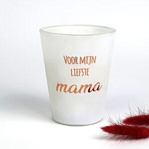 Geurkaars met naam mat wit - Moederdag cadeau - cadeau voor mama