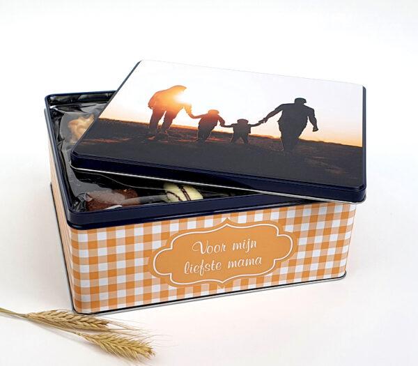 Koekendoos met foto - Koekjesdoos met foto als origineel cadeau voor moederdag