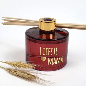 Luxe geurstokjes met naam - Origineel cadeau voor mama - Geurstokjes bordeaux