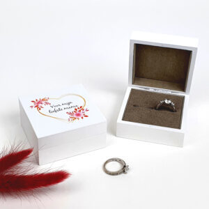 Ringendoosje met naam bedrukt - Juwelendoosje als origineel moederdag cadeau