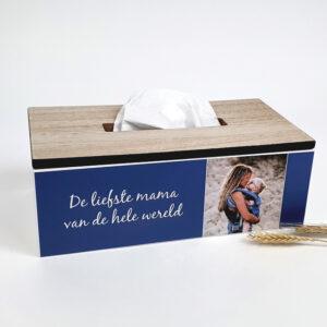 Tissuedoos met foto - Tissuedoos personaliseren als origineel moederdag cadeau