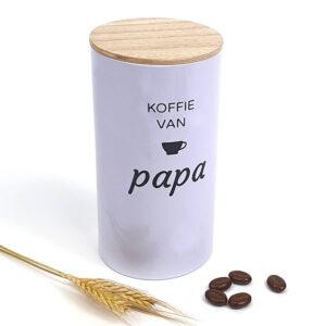 Koffieblik met naam als cadeau voor papa - Originele vaderdagcadeaus