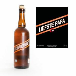 Origineel vaderdagcadeau - Bier vaderdag - 75cl kwaremont gepersonaliseerd bier als cadeau voor papa