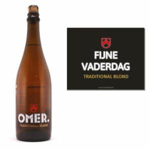 Origineel vaderdagcadeau - Bier vaderdag - 75cl omer gepersonaliseerd bier als cadeau voor papa