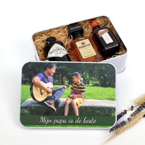 Origineel vaderdagcadeau - Boozebox met foto als drankcadeau voor papa
