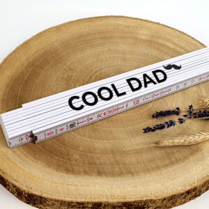 Origineel vaderdagcadeau met naam - Vouwmeter met naam als cadeau voor vaderdag