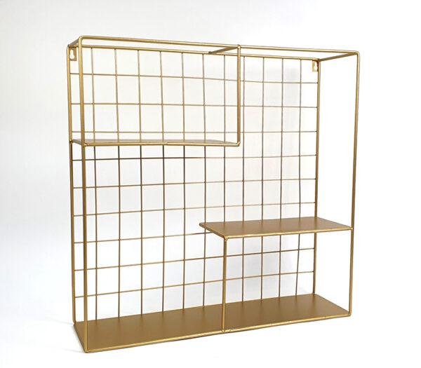 Doopsuiker presenteren - Presentatierek doopsuiker vierkant goud