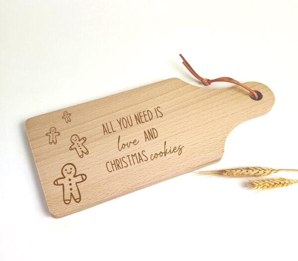 Gepersonaliseerde tapasplankjes als origineel kerstcadeau - Christmas cookies