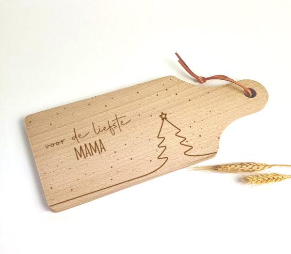 Gepersonaliseerde tapasplankjes als origineel kerstcadeau - Snowy Christmas